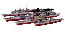 1 Set Plastic Mini Warship Model Kit (8pcs) USS HMS Russian Navy Toy Soldiers