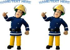 2 X PERSONALISED FIREMAN SAM IRON ON T SHIRT TRANSFERS WHITE/LIGHT FABRICS #2