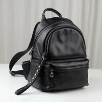 Great Quality/ Real Leather Small Backpack Rucksack Daypack Travel bag Purse Bag