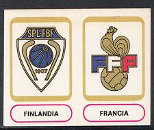 PANINI CALCIATORI FOOTBALL Adesivo 1977-78, N. 398, FINLANDIA & distintivi NIDO D'APE