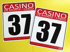 VINTAGE style Classic Car 'CASINO DE MONTE CARLO' RACE NUMBERS MINI COOPER