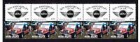 AUSTIN MINI MORRIS COOPER CAR 50th ANNIV STRIP OF 10 MINT STAMPS, MINI MOKE 2