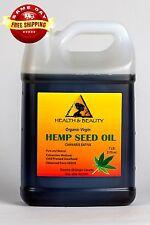 HEMP SEED OIL UNREFINED ORGANIC by H&B Oils Center COLD PRESSED PURE 7 LB