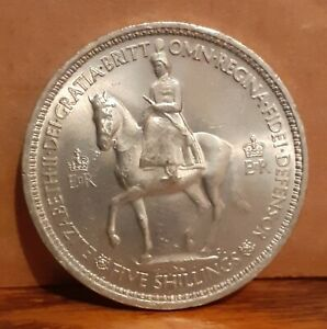 1953 UK United Kingdom Queen Elizabeth II Coronation Crown Coin & Official Box