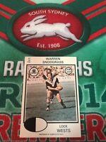 1975 Scanlens Rugby League Card No 37 Warren Snodgrass Western Suburbs