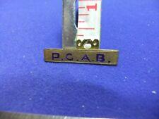 vtg badge bar pcab police ? board ? fraternity club association 1900s