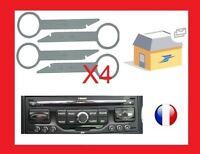 4 cles clef d'extraction de démontage pour autoradio peugeot wipnav audi ford