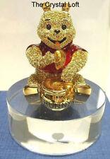 Swarovski * Disney *WINNIE THE POOH BEAR  & Stand * Ltd Edition 5000 pcs
