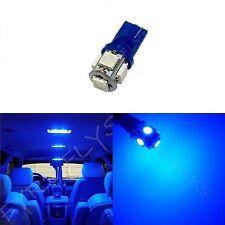1x Blue T10 168 194 2825 W5W 5 SMD LED Dome Map Cargo 1xM2