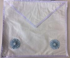 Franc maçon, grand tablier apprenti en peau, RER masonic apron on Leather