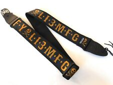 GENUINE JIM DUNLOP SKULL MFG GFY LUCKY 13 ACOUSTIC ELECTRIC BASS GUITAR STRAP