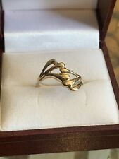 Beautiful 10kt Yellow Gold Art Deco Ring One Of A Kind - Size 8 - 1.75 Grams