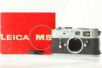 【CLA'd NEAR MINT+ in BOX】 Leica M5 35mm Rangefinder Film Camera Chrome Japan 598