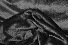 Schwarz mit Persianer Struktur Kunstfell Meterware Jacke Decke Webpelz NB3050-I