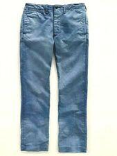 Polo Ralph Lauren Rrl Slim Azul Índigo Militar HBT Oficial Dama Pantalones $290 +