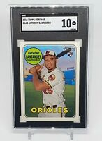 2018 Topps Heritage Anthony Santander RC #640 Rookie Orioles SGC 10 Gem Mint