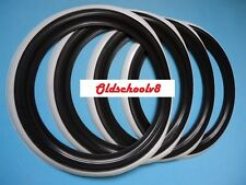 "ATLAS Brand 15"" Black Whitewall Portawall Tire insert Trim set 4 pcs"