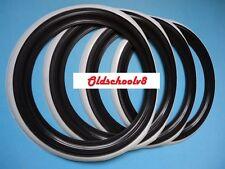 "ATLAS Brand 15"" Black Whitewall Portawall Tire insert Trim set 4 pcs"
