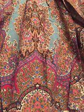 Ralph Lauren Emerson Paisley Twin Bed Skirt/Dust Ruffle Euc