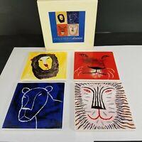 Columbia University Alumni Association Lions Ceramic Tile Beverage Coaster Sets