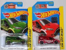 2015 HOT WHEELS RLC FACTORY SET OFF ROAD FORD TRANSIT CONNECT X2 BOTH COLORS