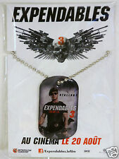 pendentif plaque militaire film EXPENDABLES 3 chainette collier Gi Stallone