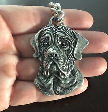 Rare Vintage Mastiff Keychain Key Chain Dog English French Neopolitan Canine