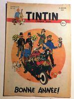 Journal TINTIN n° 115 du 4 janvier 1951. Très Bel état. Couverture Hergé Tintin