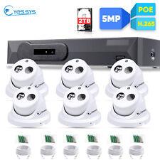 Eyes.sys 2TB HDD 8CH POE NVR 6PCS FULL HD 5MP Array HD Dome Camera CCTV System