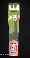 Widmer Brothers HOPSIDE DOWN IPL Beer Tap Handle Marker Portland Oregon  Lot #10