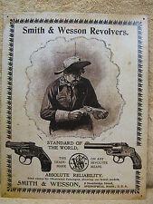Smith & Wesson Revolves Gun Tin Metal Sign Decor NEW