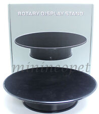 "ROTARY DISPLAY TURN FLOCKED BLACK TOP STAND 1/24 10"" MEDIUM"