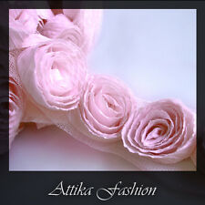 Pink Delight --- Pleated Cotton Mesh Trim *Per yard*