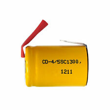 12-Pack 4/5 Sub C NiCd Batteries with Tabs (1300 mAh)