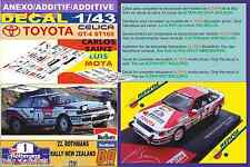 ANEXO DECAL 1/43 TOYOTA CELICA GT-4 C. SAINZ NEW ZEALAND R 1991 WINNER (01)