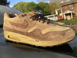 2004 NIKE AIR MAX 1 LEATHER SC SHIMA SHIMA BROWN 604005 221 sz 12 atmos parra
