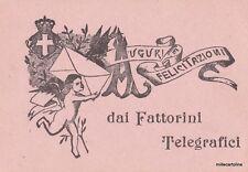 POSTA - BIGLIETTO AUGURI DEI FATTORINI TELEGRAFICI 1880