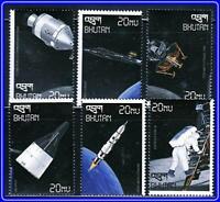BHUTAN = SPACE / MOON LANDING x6 STAMPS MNH ** neuf unMOUNTED postFRISCH