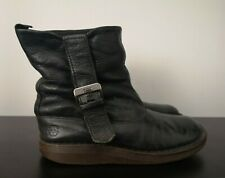 Womens Dr Martens Tana Black Leather Flat Slouch Boots - UK 5
