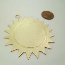 Handmade & Unique* 2pcs Large Round Sacred 25 Pointed Sun Pendants Blanks