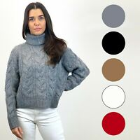 Ex Zara Roll Neck Chunky Knit Jumper 5 Colours Size S - XXL