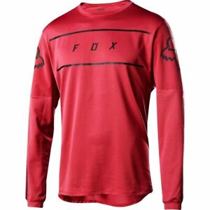 Fox Racing Flexair Long Sleeve L/S Fine Line Jersey Cardinal