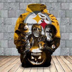 Pittsburgh Steelers Halloween Hoodie Freddy Pullover 3D Hooded Sweatshirt Jacket