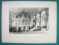 CONSTANTINOPLE Interior Greek Church of Baloukli - 1840 Antique Print by Allom
