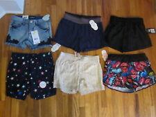 NEW Lot 6 pcs GIRL size 6 6X shorts 2xrunning 1xbermuda 1xcrochet 1xsoft 1xdenim