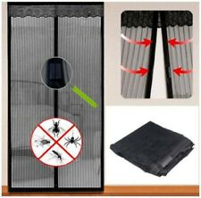 Magnetic Fastening Magic Curtain  Fly Bug Insect Screen Door Mesh black Free P&P