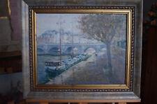 Russian oil cardboard Impressionism Paris Landscape Demidov Alexander п-23