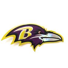 2 of Baltimore Ravens Foil Emboss Decal Sticker NFL Reflective Printed Die Cut