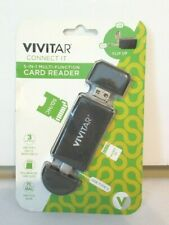 Vivitar Connect It 5-in-1 Multi-Function Card Reader SD/HC Type C USB 2.0