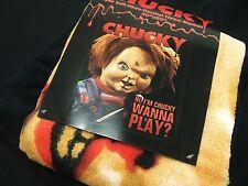 Childs Play Im Chucky Wanna Play Evil Killer Toy Doll Plush Fleece throw Blanket